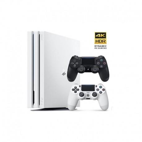 Sony Playstation 4 Pro Glacier White Region 2 CUH-7116B 1TB Game Console Bundle